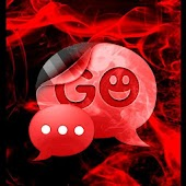 GO SMS Pro Theme Red Smoke