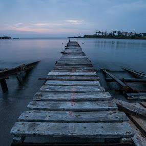 long way to go by Yordan Mihov - Landscapes Travel ( port, ahtopol, burgas, sea, morning, long, black, bulgaria )