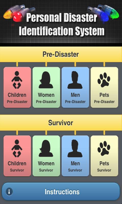 Disaster ID- screenshot