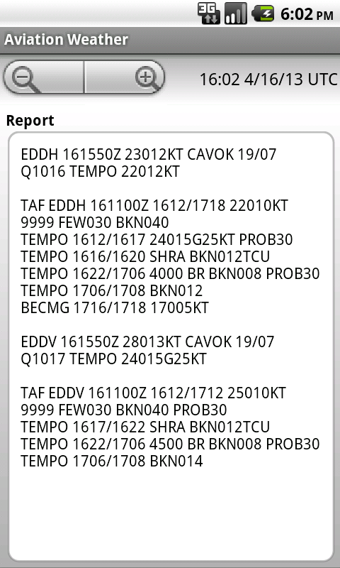 Aviation Weather - screenshot