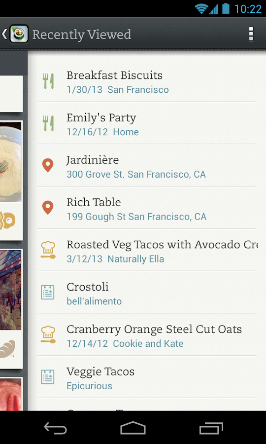 Evernote Food- screenshot