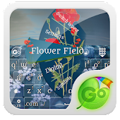 Flower FIeld GO Keyboard Theme