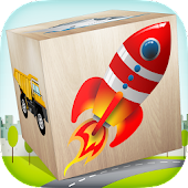 Cars 3D Blocks kid puzzle game