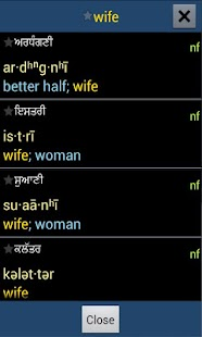 Punjabi Kosh -- Dictionary - screenshot thumbnail