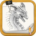 Draw Cartoon & Movie Dragons icon
