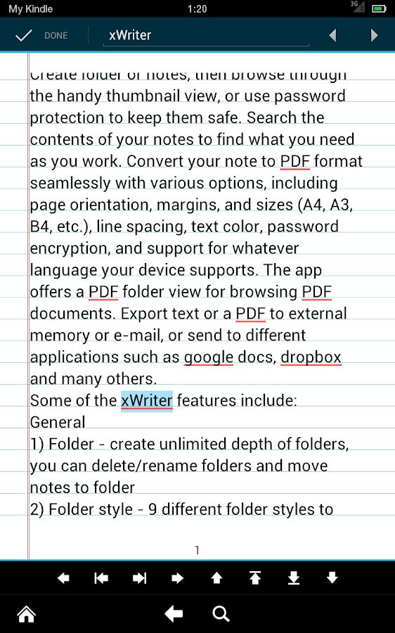 xWriter Pro 4- screenshot