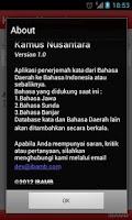 Screenshot of Kamus Nusantara