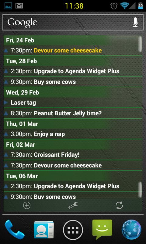 Agenda Widget Plus- screenshot