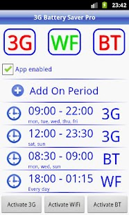 3G Battery Saver Pro + WiFi BT - screenshot thumbnail