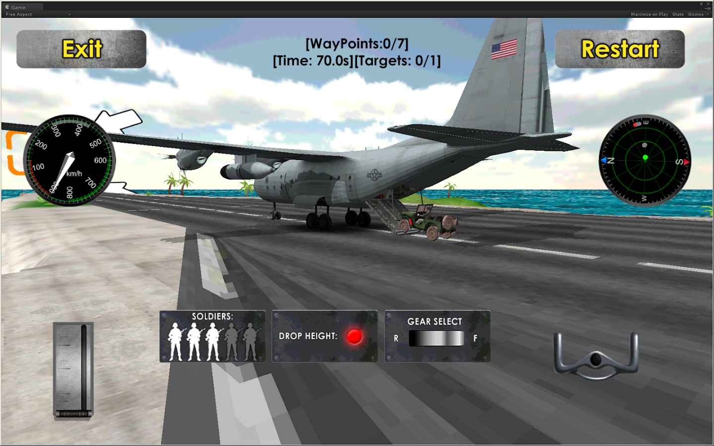 Flight sim transport plane 3d android apps on google play for Simulatore 3d