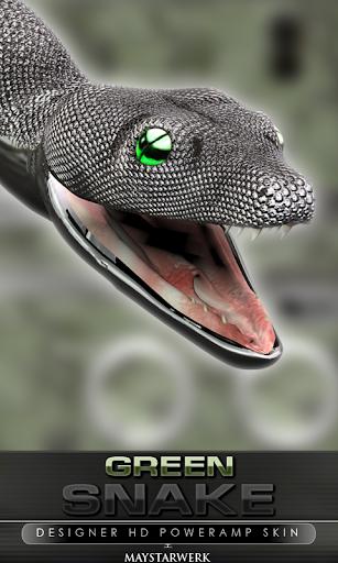 poweramp skin green snake