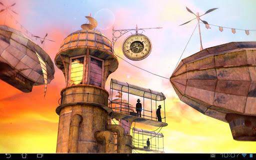 3D Steampunk Travel Pro lwp app for Android screenshot