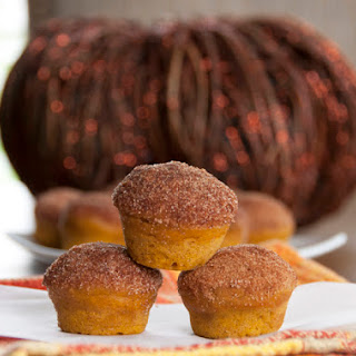 Cinnamon Sugar Mini Pumpkin Donut Muffins