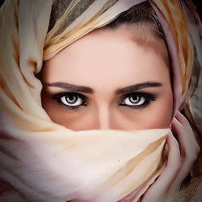 Secret Eye by Abie Akbar - People Portraits of Women