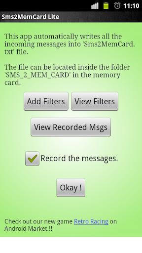 Sms2MemCard