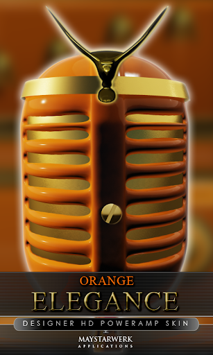 elegance poweramp skin orange