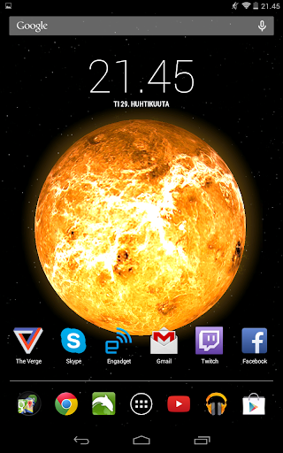 Solar System Live Wallpaper for Android