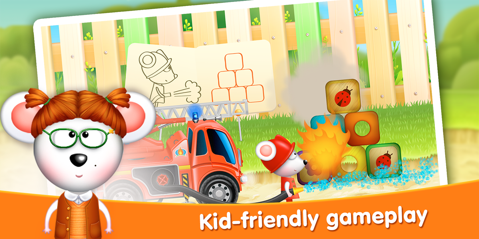 Firetrucks: rescue for kids- screenshot