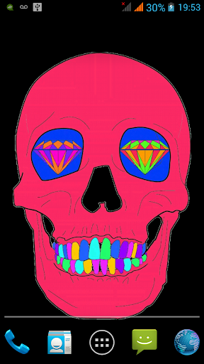 Rave Skull Live Wallpaper