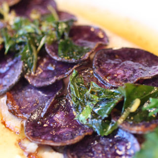 Purple Potato-Crusted Trout a la Francaise