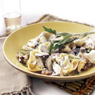 Tortelloni with Mushroom-Sage Sauce.