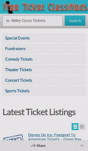 Ticket Classifieds