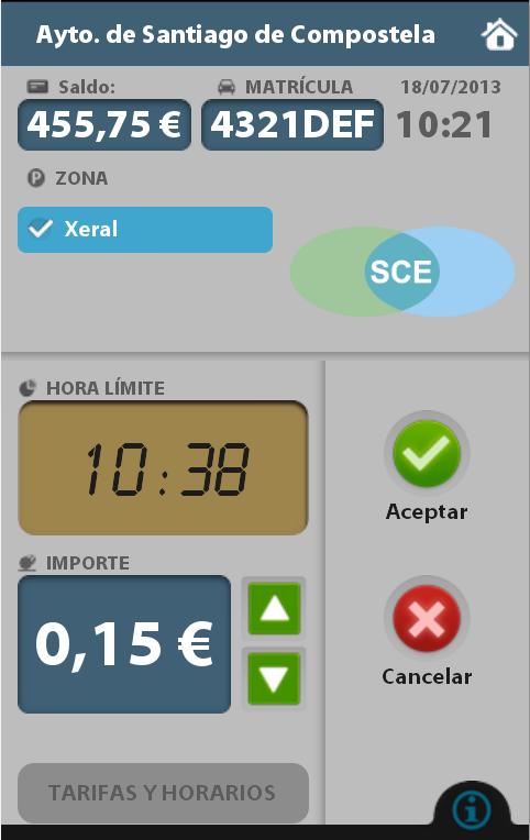 e-park, Aparcamiento regulado - screenshot