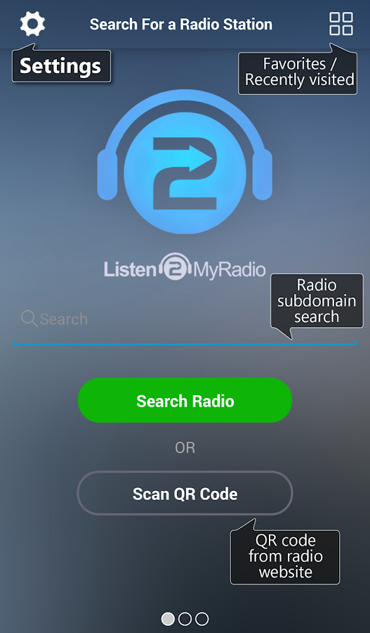 Listen2MyRadio- screenshot