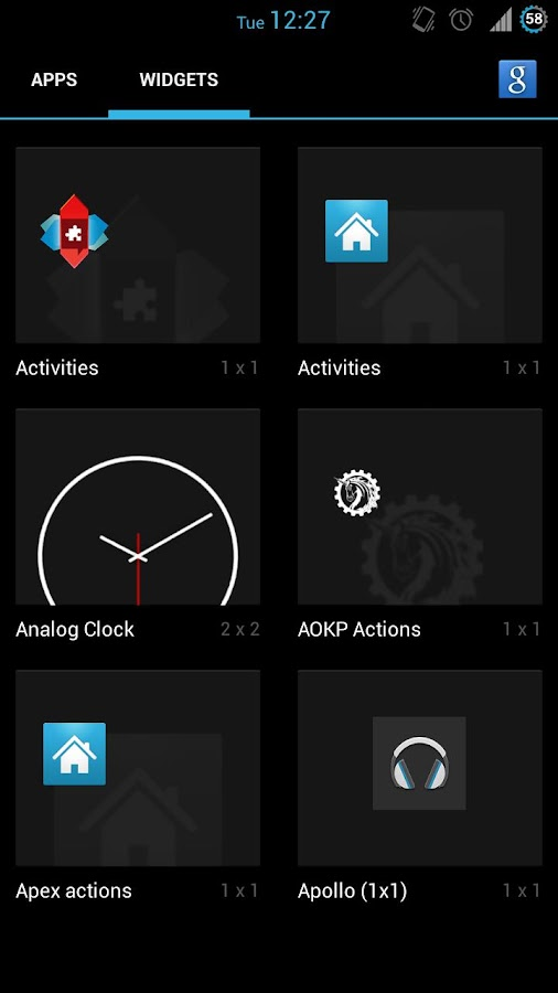 4.2 Clock Widget (w/ seconds) - screenshot