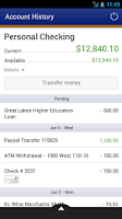 Screenshot of Arizona Federal Mobile Banking