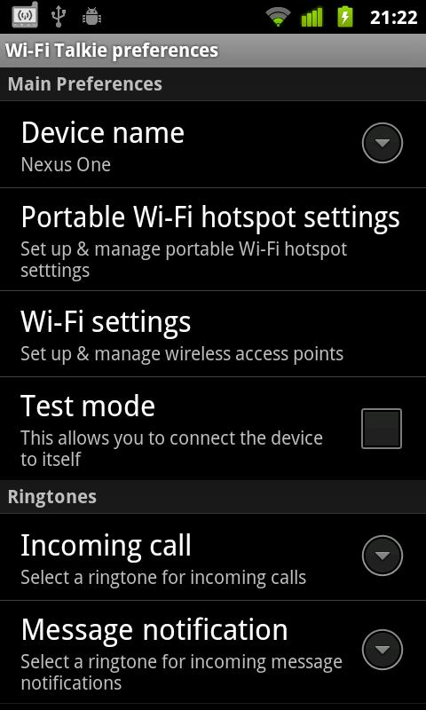 Wi-Fi Talkie Lite - screenshot