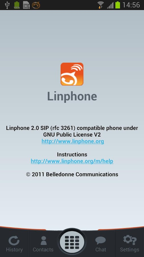 Linphone Video - screenshot