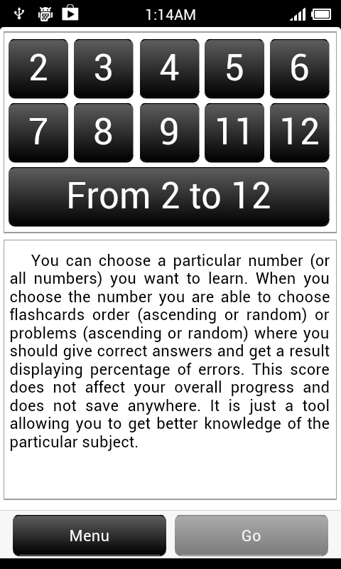 Multiplication Table. - screenshot