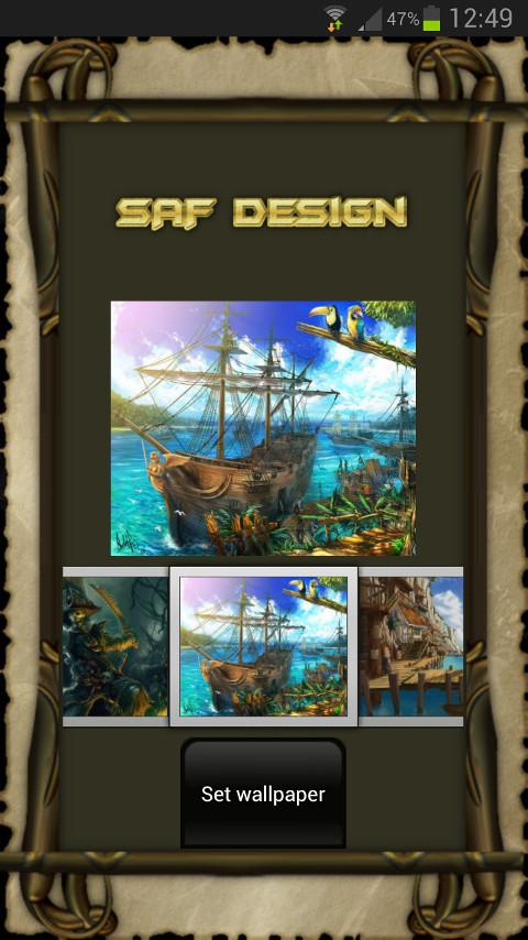 Pirate GO Launcher EX Theme - screenshot