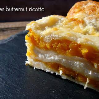 Butternut Squash and Ricotta Lasagna.