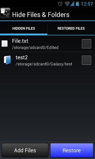 Hide Files Folders