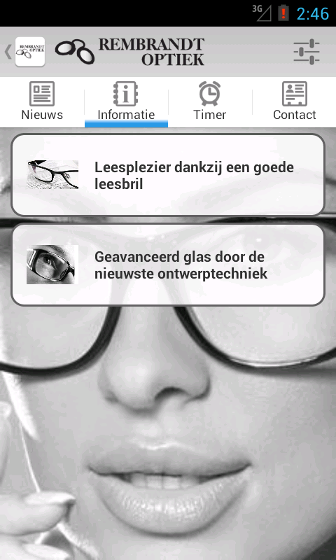Rembrandt Optiek - screenshot