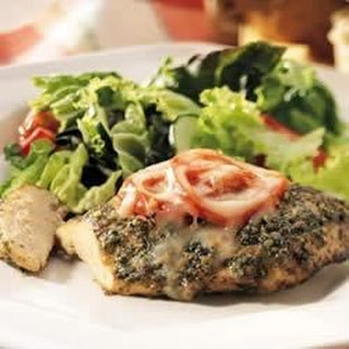 Baked Pesto Chicken.