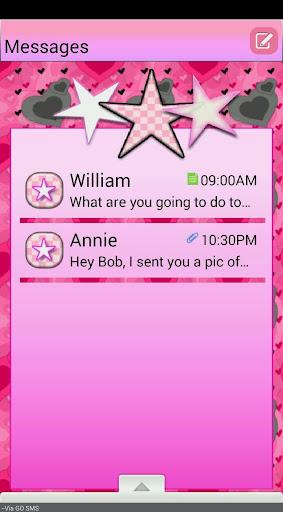 HeartsNStars GO SMS THEME