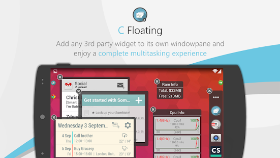 C Floating Screenshot