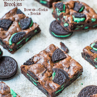 Fudgy Mint Chocolate Brookies