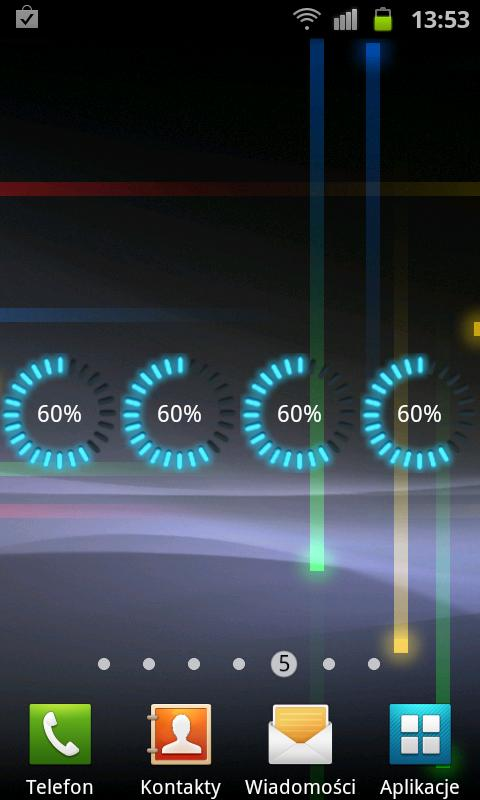 Glow Battery Widget - screenshot