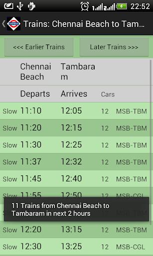 Chennai Local Train Timetable 2.7 screenshots 3