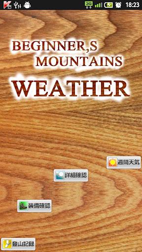 登山初心者のセレクト百名山天気予報