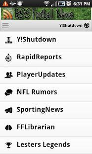 RSS Football News - screenshot thumbnail