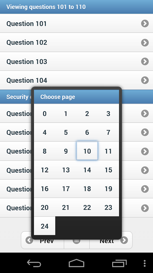 PHP Study Quiz App- screenshot