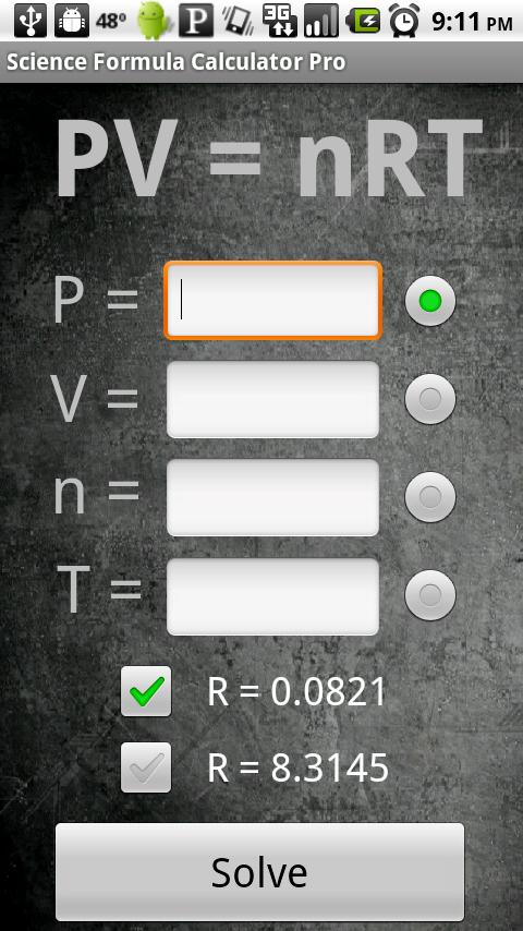 Science Formula Calculator Pro- screenshot