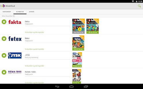 Minetilbud - screenshot thumbnail