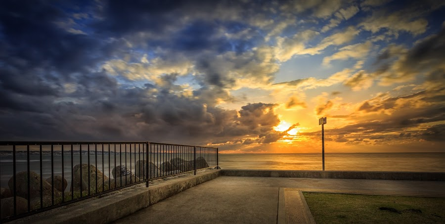 Sunabe Sunset by Karl Nakasone - Landscapes Sunsets & Sunrises ( japan, sunabe, sunset, ocean, okinawa, island )