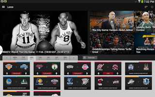 Screenshot of NBA app